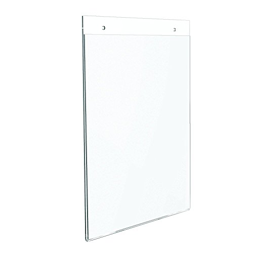 Dazzling Displays 6-Pack Acrylic 8.5 x 11 Wall Mount Sign Holders
