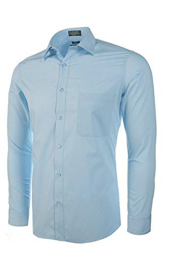 Marquis Men's Slim Fit Dress Shirt - Light Blue,Medium 15-15.5 Neck 32/33 ()