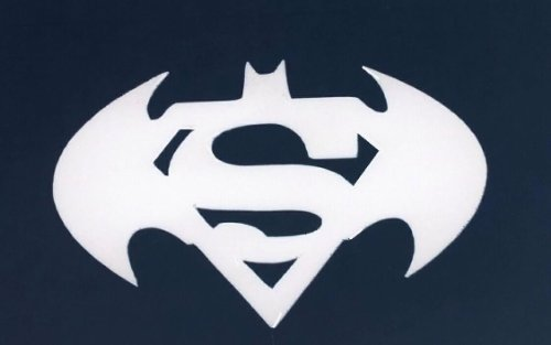 Superman Man of Steel & Batman Dark Knight Shield White Cell Phone Decal Combo