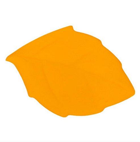 Outdoor Travel Silica Gel Leaf-shaped Portable Folding Cup Tumbler Blue Green Red Yellow Orange (orange)