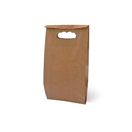 Bolsa de Asa Troquelada Kraft Pack 50 uds (24 x 07 x 37 ...