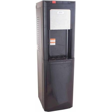 Glacial Taller Black Top-Load Water Dispenser Water Cooler with Refrigerator Bottom
