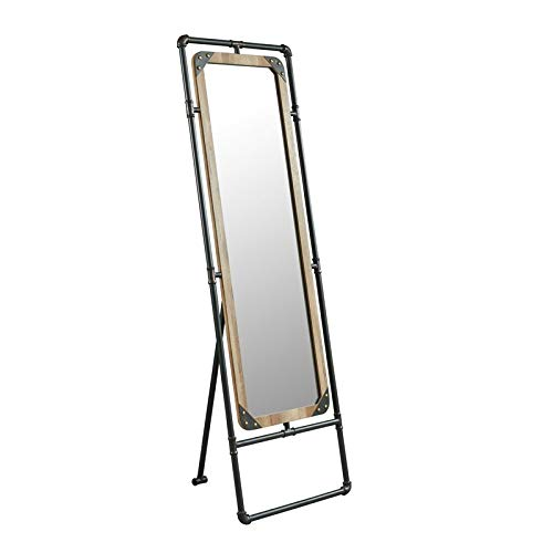 "Furniture of America Regalo 51"" Standing Mirror in Sand Black"