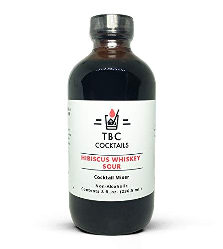 TBC Cocktails Premium Whiskey Bourbon Cocktail Mixers - Drink Mixer for Making Great Tasting Craft Cocktails (HIbiscus Whiskey Sour, 8 fl. oz)