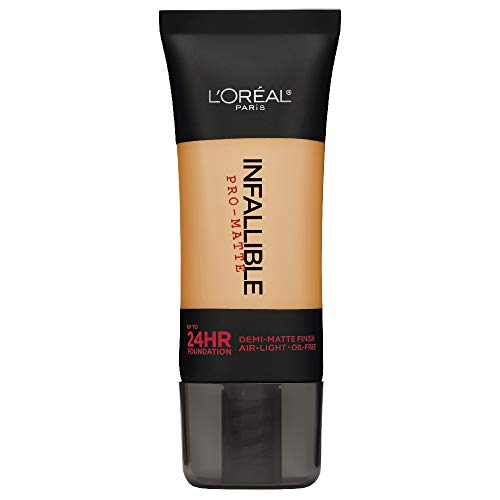 L'Oréal Paris Makeup Infallible Pro-Matte Liquid Longwear Foundation, 105 Natural Beige, 1 fl. oz. ()