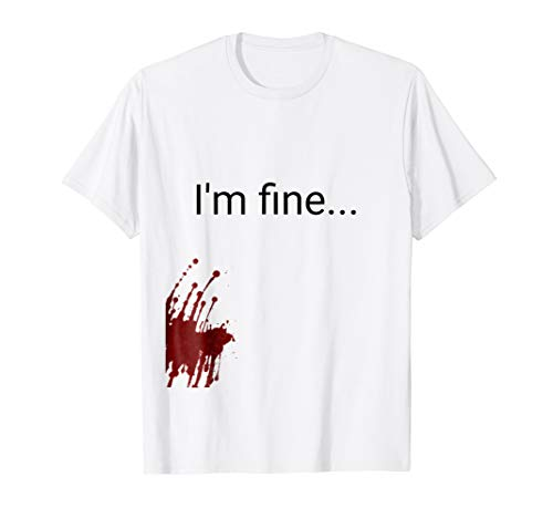 Halloween Zombie victim costume t Shirt men -