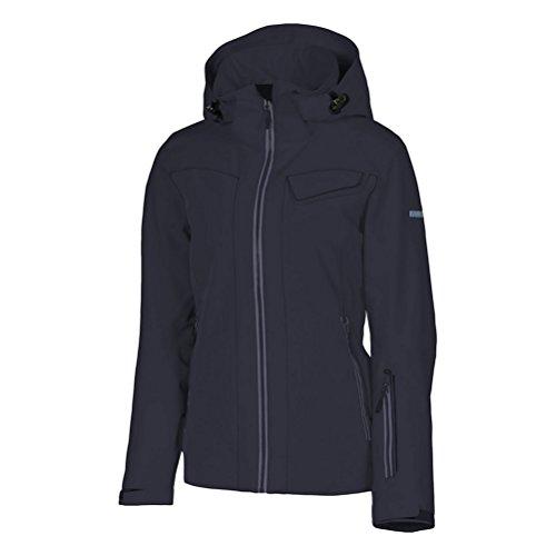 (KARBON South Womens Insulated Ski Jacket - 10/Black-Charcoal-Black-Charcoal)