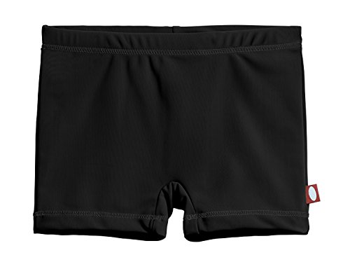 City Threads Big Girls' Swimming Suit Bottom Boy Short, Black MS, 7 ()