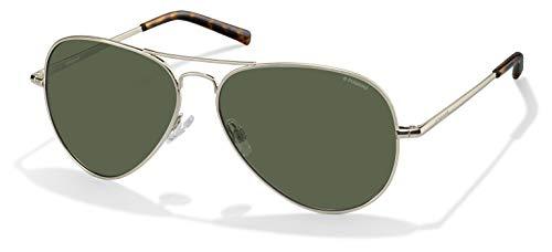 Polaroid Unisex PLD 1017/S Sunglasses, Light Gold / Green Polarized, One Size