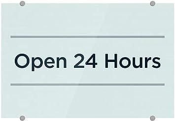 Basic Teal Premium Acrylic Sign 36x24 CGSignLab Open 24 Hours