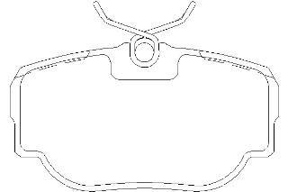 Pad Rear Mintex Brake (Replacement Mintex Rear Brake Pads (Full set for Rear Axle) MDB2470)