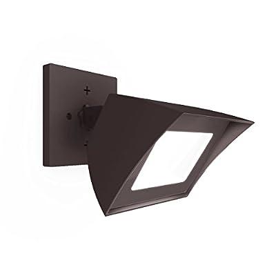 WAC Lighting WP-LED354-35-aBZ Endurance PRO Energy Star LED Flood Outdoor Wall, Architectural Bronze