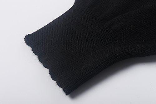 Noir Base Tricoter longue Manche Femmes Cardigan Cerise JerrisApparel Chandail Bouton wvqgHzfA