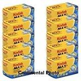 10 Rolls Kodak GC 135-24 Max 400 Color Print 35mm Film ISO 400 (Pack of 10)