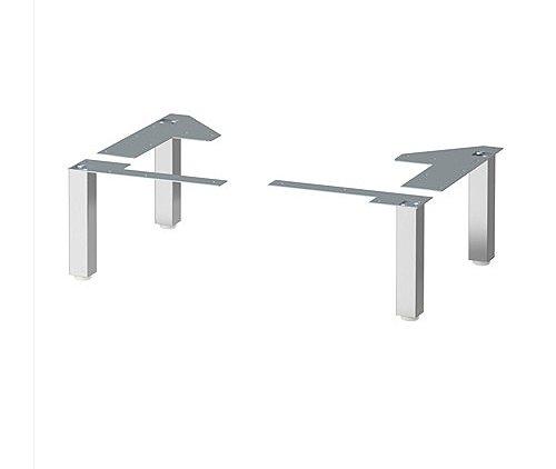 Ikea Lillangen gambe in acciaio INOX per armadi da bagno con protezione contro l' umidità–4confezione