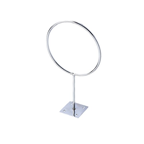 VORCOOL Stainless Steel Wall Mount Sports Ball Rack Display Ball Holder for Basketball Soccer Football Volleyball Exercise Ball Medicine Ball (Silver) (Best Exercises For Football)
