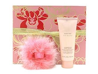 Mary Kay Tribute Gift Boxed Set ~ Full Size Tribute Shimmering Body Lotion Creme & Pink Shimmer Powder in a Puff