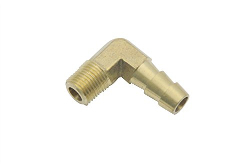 (LTWFITTING 90 Degree Elbow Brass Barb Fitting 5/16 ID Hose x 1/8