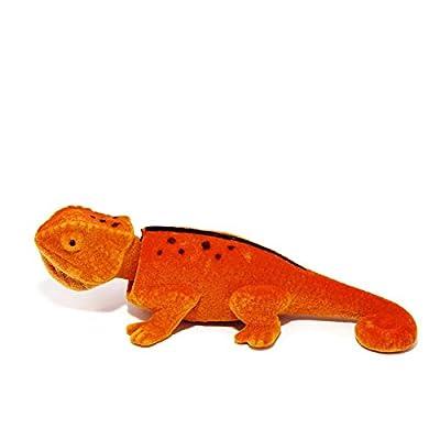 Batty Bargains Ravishing Bobblehead Lizard with Car Dashboard Adhesive (Orange): Toys & Games