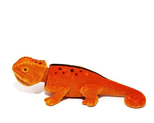 Batty Bargains Ravishing Bobblehead Lizard with Car Dashboard Adhesive (Orange) - Orange Bobble Head