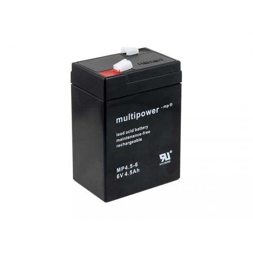 Powery replacement battery for lamp Johnlite vacuum cleaner halogen lamp 6V 4,5Ah (surrogates 4Ah 5Ah), 6V, Lead-Acid 1.86.MUP.2.18