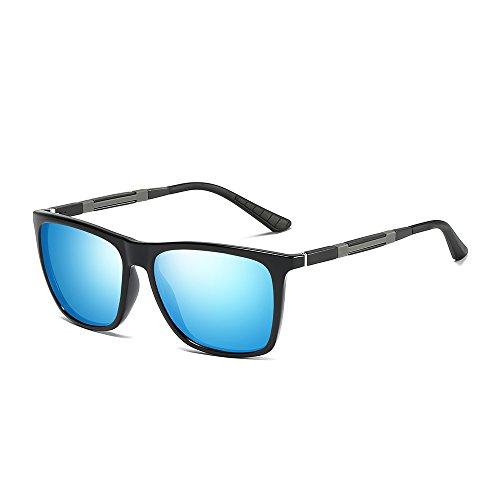 Sol Classic WS046 UV400 Hombre metal Black Marco Gafas de De MG BVAGSS Lens Polarizado Blue Frame Vintage Gafas AL Modelo Protección FqA0tFnxa