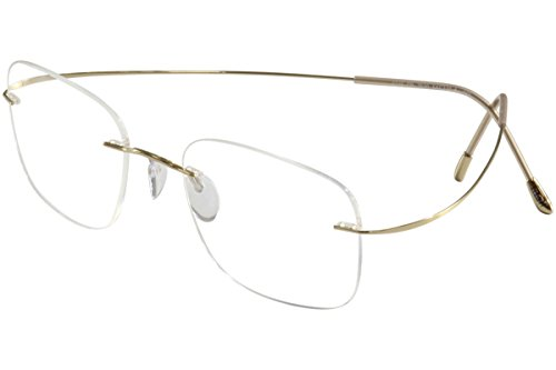 (Silhouette Eyeglass the Must Collection Gold 7610-6051)