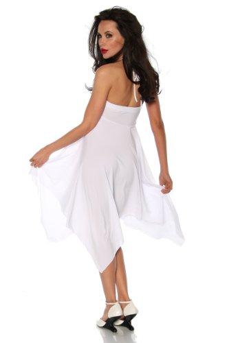 Weißes Bandeau-Kleid mit Straßapplikation und Bindeband