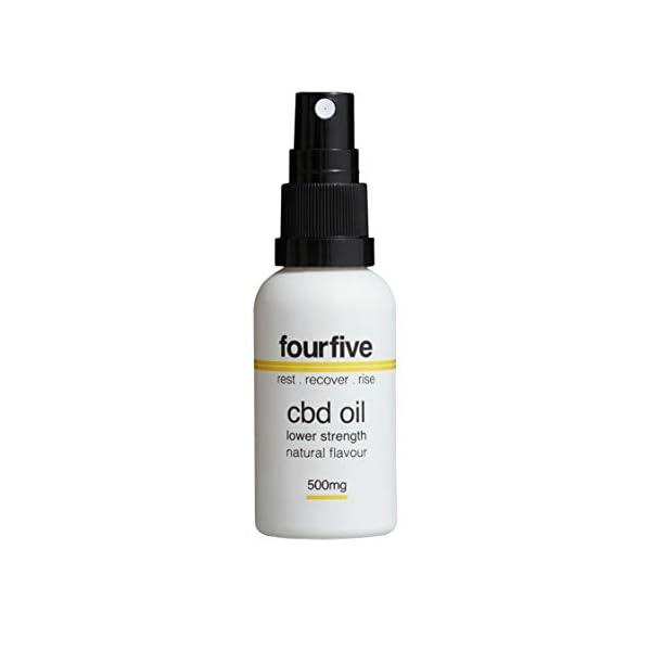 fourfive CBD Oil Spray, 500mg Cannabidiol, Natural/Unflavoured, 30ml
