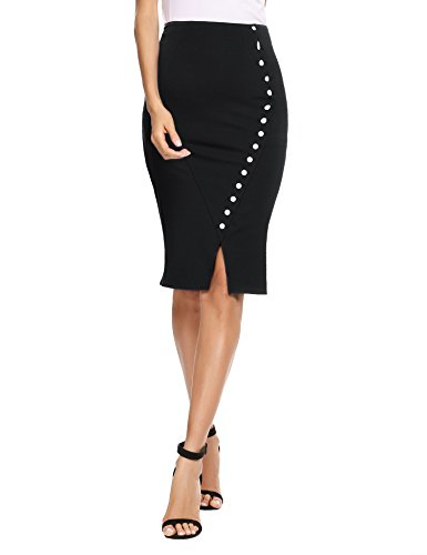 plus size pencil skirt with split - 3