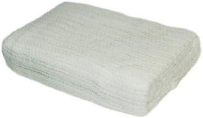 Manta de celulosa de algodón, para cama de matrimonio, blanco, 100% algodón para mayor calidez y comodidad: Amazon ...
