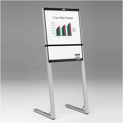 Folding Marker Tray Magnetic Flipchart Easel Finish: Black/Silver by Da-Lite