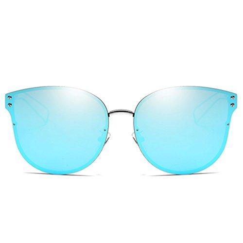 Sol de Párrafo Personalidad Gafas C Mujeres HD de El Mujer Mismo Hombres y Elegantes B Redondas Gafas Sol Lentes Sol de Moda Gafas Color Gafas qSAwRtvq