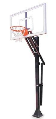 最初チームSlam select-bp steel-acrylic in ground調整可能バスケットボールsystem44、スカーレット B01HC0DWSM