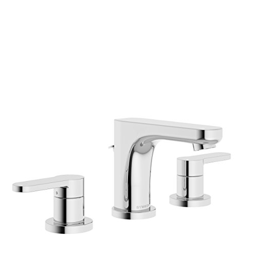Symmons SLW-6712-1.0 Identity Widespread 2-Handle Bathroom Faucet with Drain Assembly in Polished Chrome (1.0 GPM) from Symmons