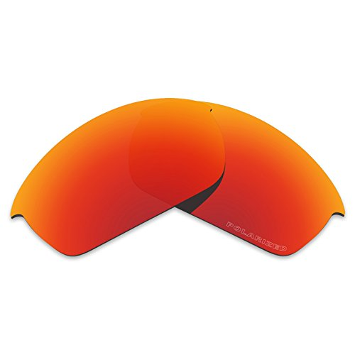 Tintart Performance Lenses Compatible with Oakley Flak Jacket Polarized Etched-Fire Red ()