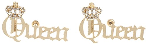 (GWOOD Queen Beautiful Woman Earrings Gold Color Post Style Pierced)