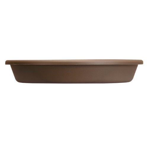 Chocolate Flower Pots - Akro Mils SLI12000E21 Classic Saucer for 12-Inch Classic Pot, Chocolate, 12.5-Inch
