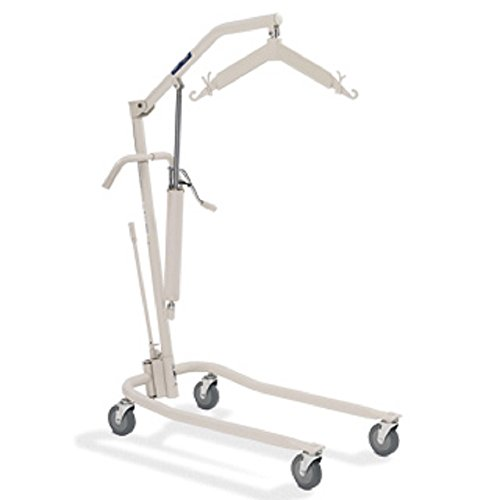 Invacare Hydraulic Patient Body Lift w/Adjustable Base & Patient Body Sling 9805P With Invacare Reliant Full Body Mesh Sling - Medium - R110 Bundle