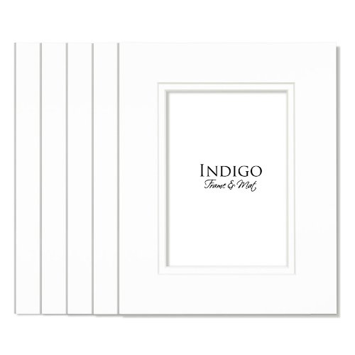 (SET of 10 - GREATPACK 16x20 White / White Double Mats- Fit 11x14 Photo Art)