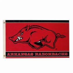 Banner Razorbacks Arkansas Flag (NCAA Arkansas Razorbacks 3-by-5 Foot  Flag With Grommets)
