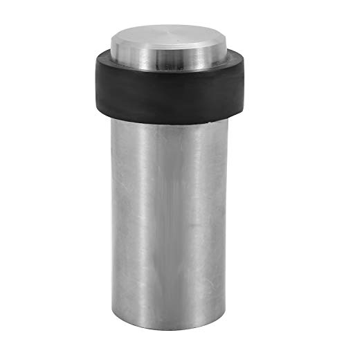 YuHorse Brushed Stainless Steel Cylindrical Floor Mount Door Stop,3-1/8