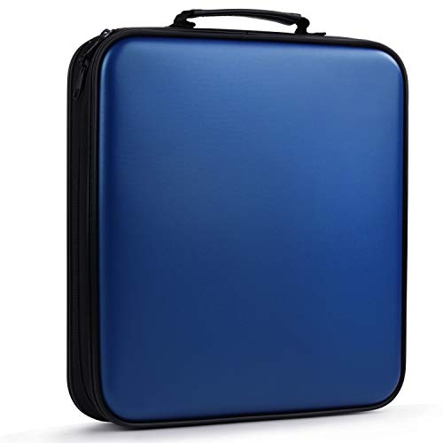 DVD Case, COOFIT DVD Case DVD Storage CD Wallet CD Case Holder 160 Capacity Blue