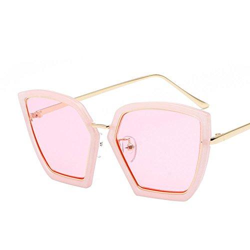 AN Lunettes de soleil femmes irrégulières de style rétro rond lunettes de rue,ré,Taille unique