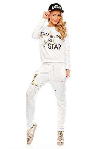 Mayaadi - Chándal - relaxed - Estrellas - Manga Larga - para mujer Weiß