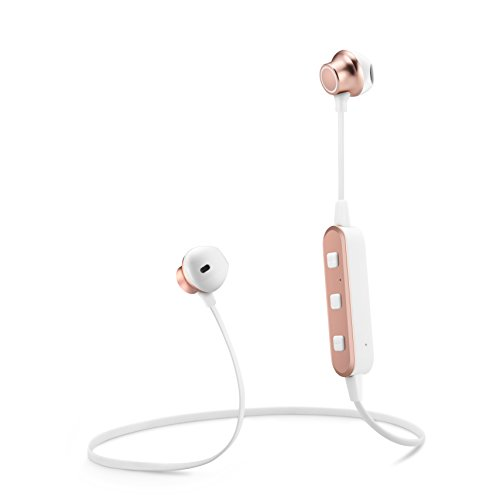 Topmate Bluetooth Earphones Wireless Earbuds IPX5 Waterproof w/Mic In-Ear Magnet HD Stereo Heavy Bass Headset Long Playtime up to 5Hours|Rose Gold