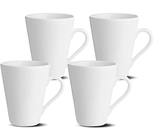 Oxford Bone China - Oxford Gourmet Mugs (Set of 4), White
