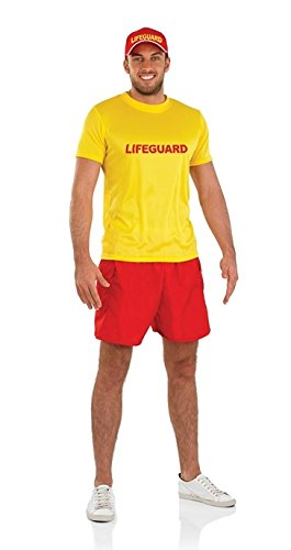 Lifeguard Australian Male Fancy Dress Costume - M (Chest (Australian Lifeguard Costume)