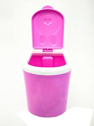 Battletter Mini Cartoon Animals Car Desktop Trash Can (Purple) by Battletter Trash can