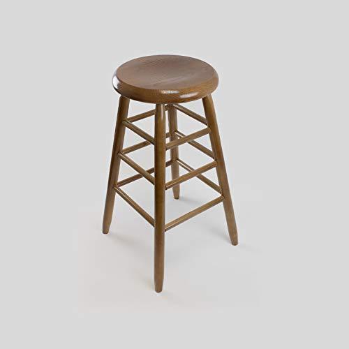Wood White Bar Stool Unfinished - Dixie Seating Garland Wood Round Barstool No. 1430 Unfinished